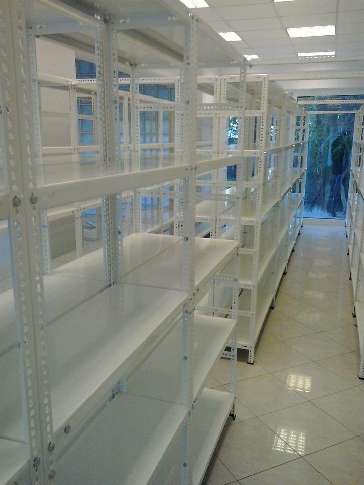 Εγκατάσταση τ.dexion λευκά σε αποθήκη δικηγορικής εταιρείας