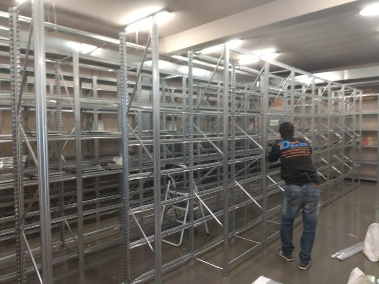 Εγκατάσταση ράφια Γαλβανιζέ Κουμπωτά